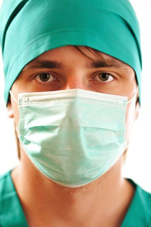 Doctor's face in mask close-up Stock Photo - 5312141