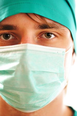Doctor's face in mask close-up Stock Photo - 5704084