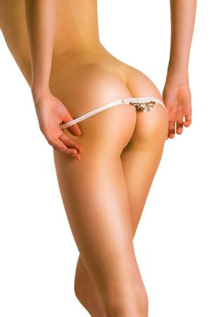 Perfect  female body (isolated on white background)