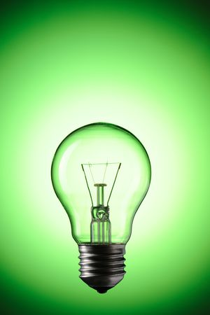Light Bulb over colourful background Stock Photo - 6906491