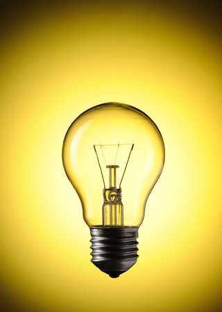 Light Bulb over colourful background Stock Photo