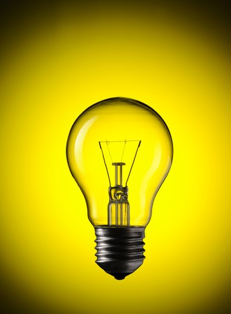Light Bulb over colourful background Stock Photo - 7042104