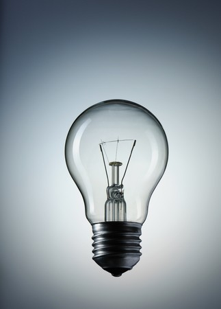 Light Bulb over gray background Stock Photo - 7123157