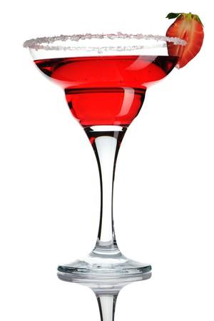 Strawberry Margarita cocktail isolated on white Stock Photo - 7270821