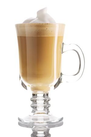 Latte-Kaffee isolated on white