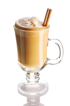 Latte coffee isolated on white Stock Photo - 7354703