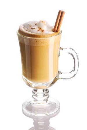 macchiato: Latte coffee isolated on white Stock Photo