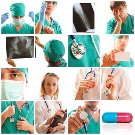 Collage made with medical related images