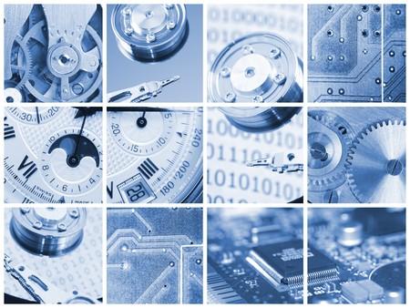 seguridad industrial: Collage realizado con la im�genes t�cnicas relacionadas. No publicitando u objetos de derechos de autor.