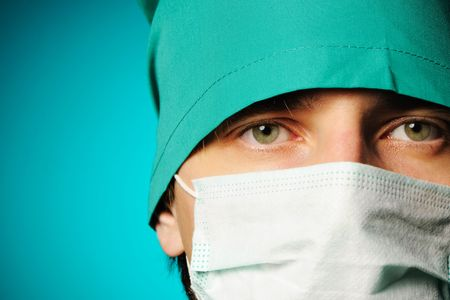Surgeon in mask close-up portrait Stock Photo - 7985896