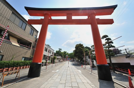 Wooden  Torii Gates at Fushimi Inari Shrine, Kyoto, Japan Stock Photo - 8161553