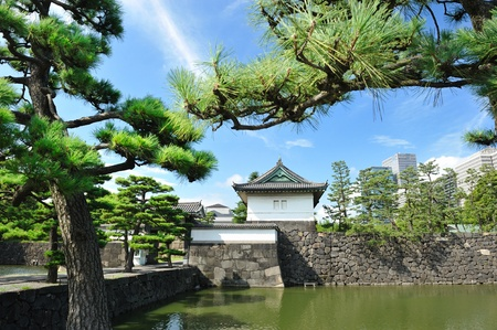 imperial: Imperial palace and city skyline in Tokyo, Japan