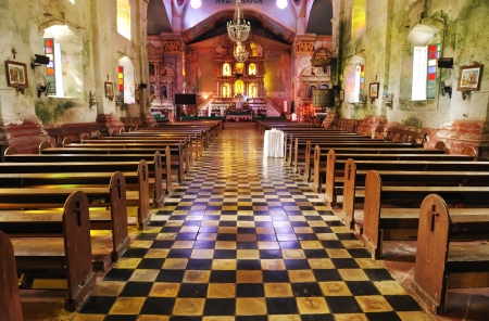 Inside of a very old catholic church Stock Photo - 8548954