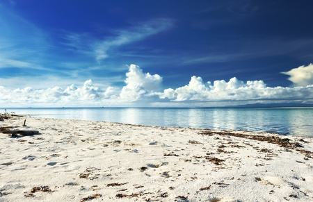 bohol: Beautiful beach at Bohol, Philippines Stock Photo