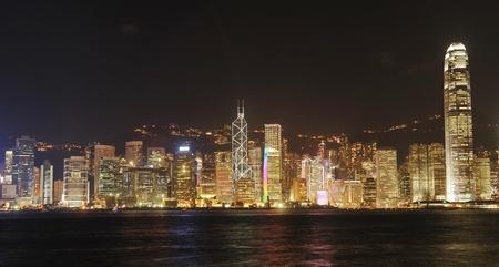 nacht: Hong Kong Großstadt bei Nacht. Keine Markennamen oder copyright-Objekte. Lizenzfreie Bilder