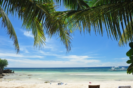 bohol: Beautiful Alona beach at Panglao, Philippines Stock Photo