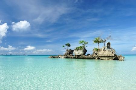 boracay: Willys rock on a beach at Boracay, Philippines