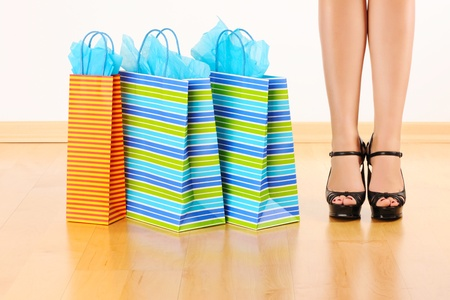 Woman's legs and shopping bags  Stock Photo - 9213333