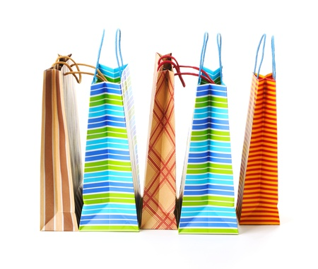 handlers: Shopping bags isolated on white