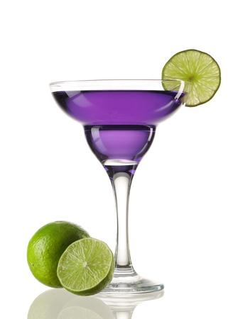 margarita cocktail: Margarita o C�ctel Daiquiri aislados en blanco