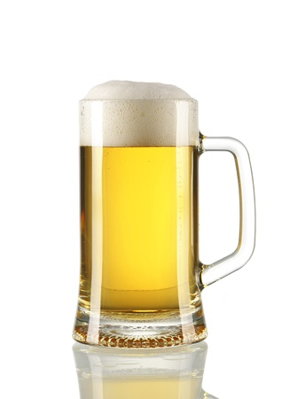 Beer glass isolated on white Stock Photo - 9636118