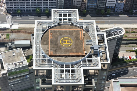aircraft landing: Helicopter landing pad