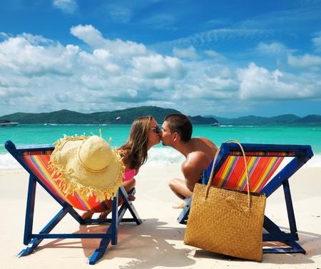 beachbag: Couple on a tropical beach