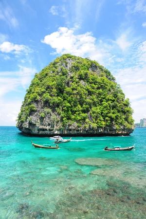 uninhabited: Beautiful uninhabited island in Thailand Stock Photo