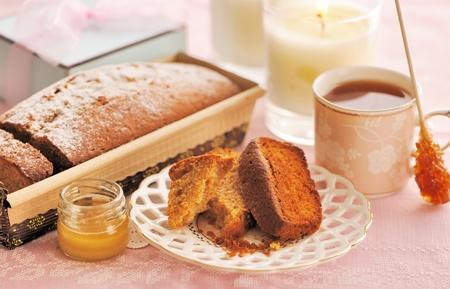 Fruit cake over table cloth Stock Photo - 13144777