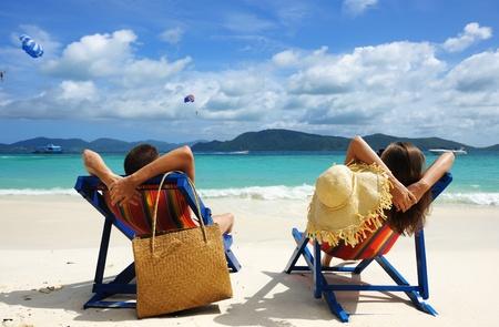 Couple on a tropical beach Stock Photo - 13509066