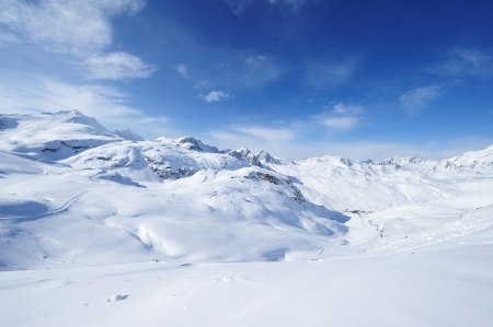 Mountains with snow in winter, Val-d'Isere, Alps, France Stock Photo - 13774570