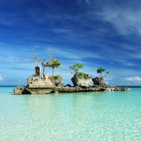 Willy's rock on a beach at Boracay, Philippines Stock Photo - 14133509