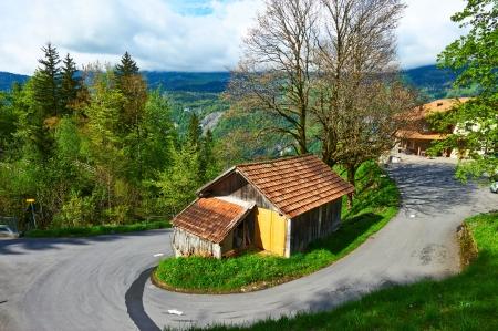 Swiss chalet near Reichenbach in Switzerland photo