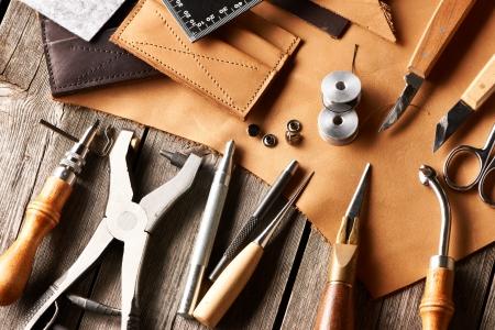 crafting: Herramientas que hacen a mano todav?a la vida de cuero