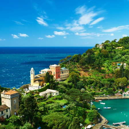 Portofino village on Ligurian coast in Italy photo