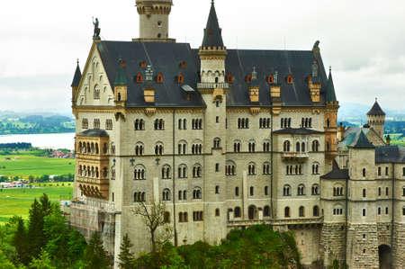 schloss: The castle of Neuschwanstein in Bavaria, Germany  Editorial