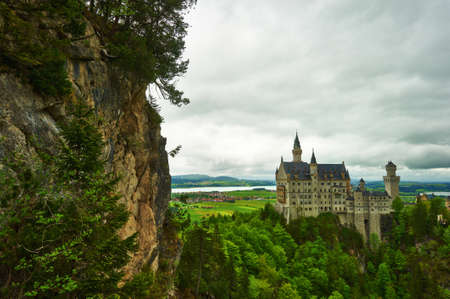 The castle of Neuschwanstein in Bavaria, Germany