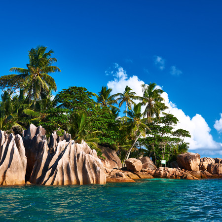 Beautiful St. Pierre Island at Seychelles photo