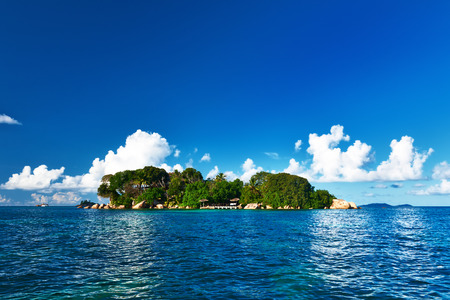 Beautiful tropical island at Seychelles photo