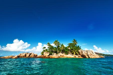 desert island: Beautiful St. Pierre Island at Seychelles