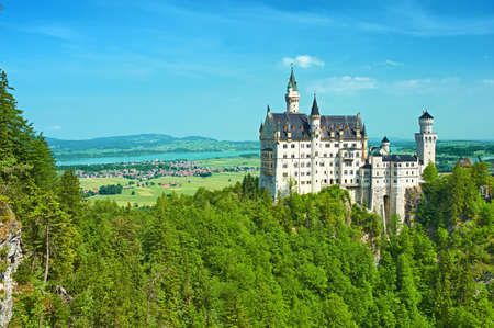 schwangau: The castle of Neuschwanstein in Bavaria, Germany. Editorial