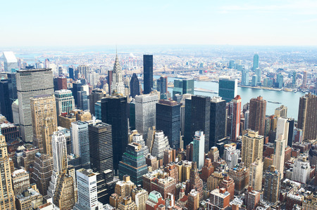 Cityscape view of Manhattan from Empire State Building, New York City, USA photo