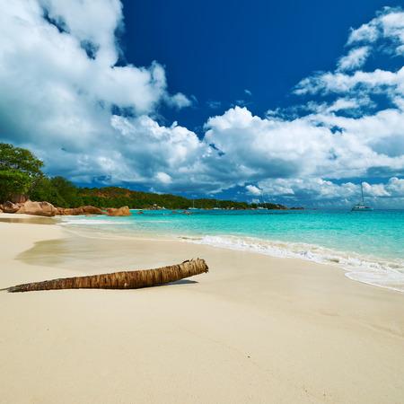 seychelles: Beautiful beach at Seychelles, Praslin, Anse Lazio