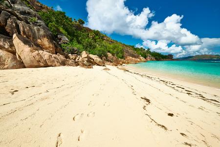 seychelles: Beautiful beach at Seychelles, Seychelles, Curieuse island Stock Photo