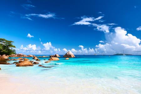 세이셸, 린, Anse 라치오에서 아름 다운 해변