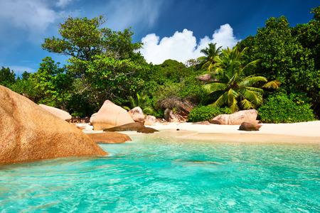 praslin: Beautiful beach at Seychelles, Praslin, Anse Lazio