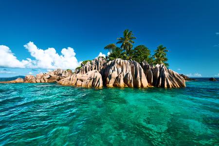 세이셸 아름다운 생 피에르 섬 스톡 콘텐츠