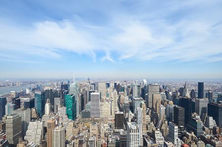new york cityscape: Cityscape view of Manhattan, New York City, USA