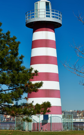new jersey: Lighthouse at Jersey City, New Jersey, USA
