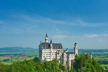 neuschwanstein: The castle of Neuschwanstein in Bavaria, Germany. Editorial